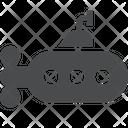 Bathyscaphe Under Water Vehicle Vehicle Icon