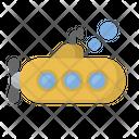 Bathyscaphe Vessel Underwater Icon