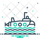 Submarine Wave Journey Icon