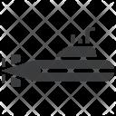 Submarine Nautical Navy Icon