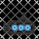 Military Submarine Bathyscaph Icon
