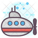 Submarine Submersible Underwater Craft Icon
