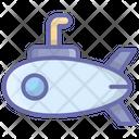 Submarine Underwater Torpedo Undersea Icon