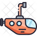 Submarine Sea Water Icon