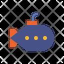 Submarine Underwater Sea Icon