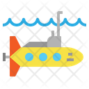 Submarine Navigation Ocean Icon