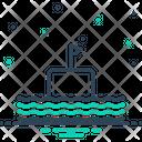 Float Submarine Cruise Icon
