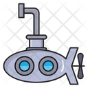 Submarine Nautical Underwater Icon