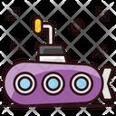 Submarine Travel Defense Vessel Icon