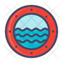 Window Glass Ocean Icon