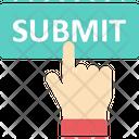 Submit Button Send Hand Gesture Icon