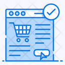 Ecommerce Shopping Website Online Order Icon