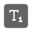 Subscript Type Letter Icon
