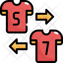 Substitute Player Soccer Icon