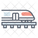 Subway Electric Train Tram Icon