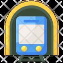 Subway Electric Train Tram Icon