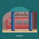 Subway Transportation Train Icon