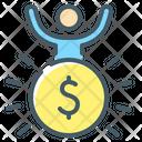 Success Man Coin Icon