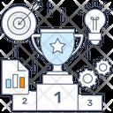 Business Success Achieving Goals Business Goals Icon
