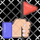Handheld Flag Success Achievement Icon