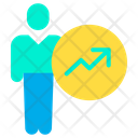 Man Success Growth Icon