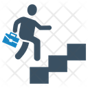 Business Success Running Stairs Icon
