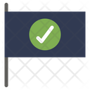 Checked Flag Sign Icon