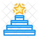 Successful Goal Stair Icon