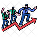Successful Businessman Employee Growth Worker Growth Icon