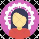 Successful Businesswoman Icon