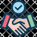 Successful Deal Partnership Handshake Icon