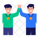 Gold Medallists Successful Employees Team Icon