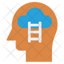 Human Head Thinking Mind Icon