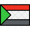 Sudan Flag Country Icon