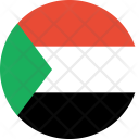 Sudan Flag Country Icon