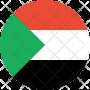 Sudan Flag World Icon