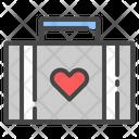 Suitcase Travel Honeymoon Icon