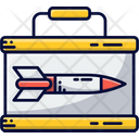 Suitcase Missile Tin Government Icon
