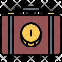 Suitcase Case Coin Icon