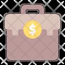 Suitcase Coin Money Icon