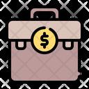 Suitcase Bank Coin Icon