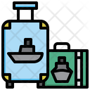 Suitcase Trolley Travel Icon