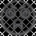 Emoticon Sulky Emoji Overwhelmed Emoji Icon