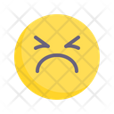 Sullen Grim Sad Icon