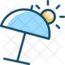 Summer Beach Umbrella Icon