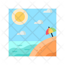 Summer Beach Tropical Icon