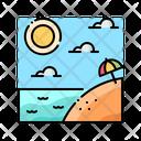 Summer Beach Tropical Icon