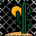 Summer Cactus Sun Icon