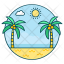 Landscape Island Beach Icon