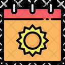 Calendar Date Sun Icon